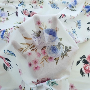 Voal georgette imprimat Flowers&Birds