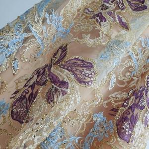 Broderie blue&purple cu margele