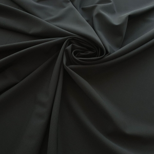 Crep din lana negru cu elastan