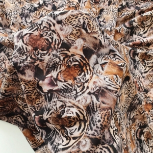 Matase naturala mata Tigers Print