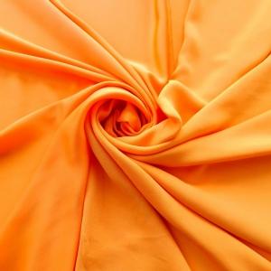 Crepe de Chine orange din matase naturala