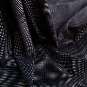 Denim negru elastic cu aplicatie din catifea
