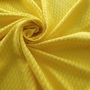 Jacquard galben cu vascoza si bumbac