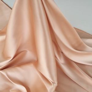 Tafta peach elastica din matase naturala
