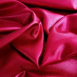 Jacquard magenta metalizat din lana