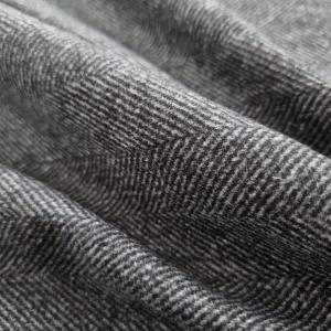 Tweed gros din lana cu model gri si negru